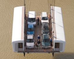 The gondola of the transporter bridge