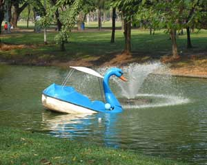 One of the park's floating ducks.