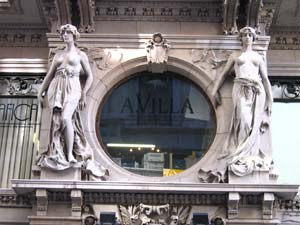Art nouveau carvings are everywhere in Trieste, if you look up.