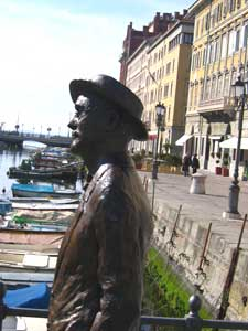 James Joyce's statue looks out on Trieste harbor. Photos by Christine H. O'Toole