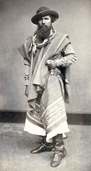 An Argentine gaucho in 1868. Photo courtesy of Wikipedia.
