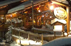 La Scierie, a restaurant in the village at La Clusaz, the food is as good as the ambience.