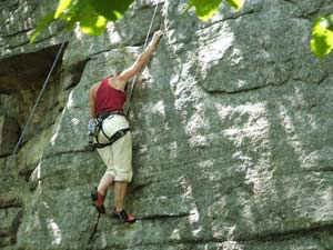 Rock climbing in the Shawangunks. photos by Chance St. John.
