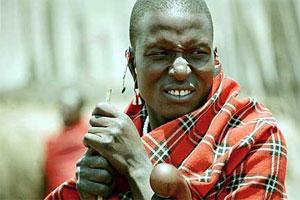 Maasai warrior in Kenya. photos by Marie Javins.