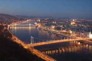The Danube by night - photos by Cindy-lou Dale