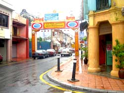 Chinatown in Malacca, on Malaysia's west coast. photo by Max Hartshorne.