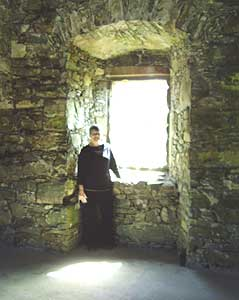 Lynn Rudberg is shown inside Drumcoltran Tower, where one of her ancestors once lived.