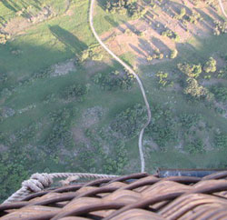 The view from a hot air balloon