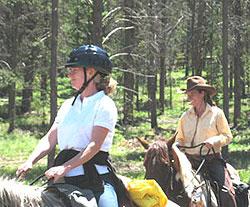 Horseback riding at Devil's Thumb Ranch