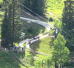 The Alpine Slide at Winter Park Resort