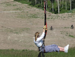 Riding the zip-line