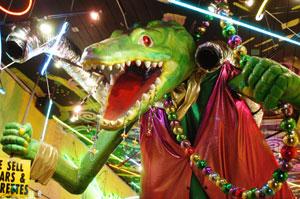 A Mardi Gras 'gator.
