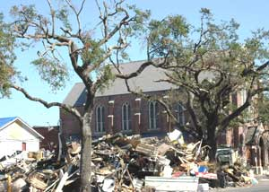 New Orleans is still cleaning up the rubble left by Hurricane Katrina.