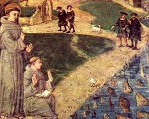 Saint Anthony preaches to the fishes.