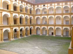 Inside the Jesuit University in Graz. photo by Max Hartshorne.
