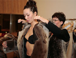 Fashion show that displayed impressive seal skin apparel popular in Greenland. photo by Paul Shoul.