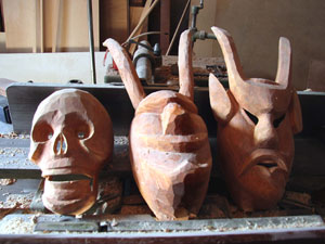 Entrudo masks can take as may as thirty hours to make.