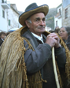 Villager in tradtional cape