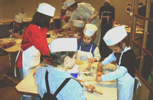 Kids at the Rathaus love making Christmas cookies with the Chef.