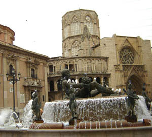 The town square in Valencia