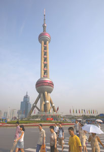 The Oriental Pearl Television Tower in Shaghai