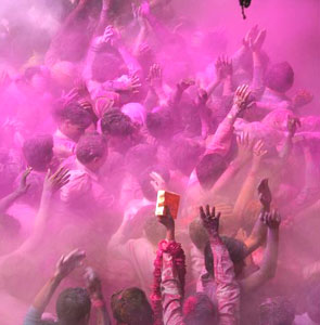 All join in the celbration of Holi, India's Festival of Color - photos by Brent Lewin