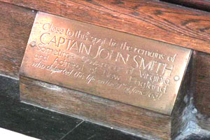 This engraving marks the spot where Smith was buried.