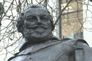 A bust of Captain John Smith