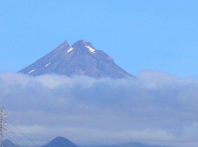 Mount Taranaki, a towering dormant volcano on the West Coast.