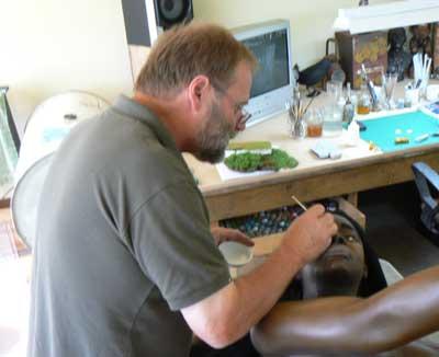 Nigel Ogle creates lifesize models of Mauri and others at the Tawhiti Museum in Hawera.