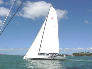 A competitor in the America's Cup in Auckland