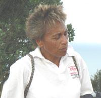 Mere Mollard-Wharepapa, a Maori guide, who takes hikes up Mount Manganui. photos by Max Hartshorne.