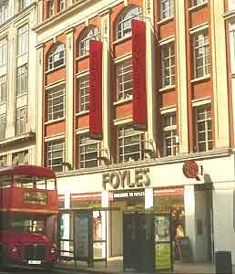 Foyles, a quality English book store.