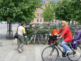Bikes and people in Denmark.