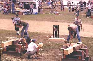 A log splitting demonstration