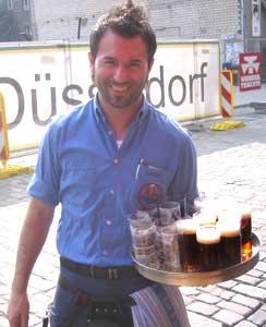 A waiter at the Fûchshen Brauerei - photos by Larry Parnass
