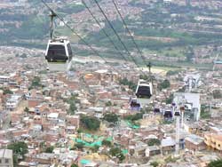 Cable cars are how people get up to the high reaches of the Santa Domingo neighborhood, and the locals are proud of the system and keep it clean.
