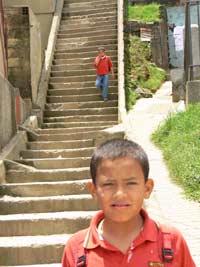Stairway in Santa Domingo. photo by Max Hartshorne.