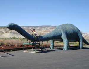 Life size model of a sauropod