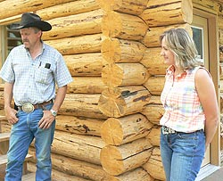 Ernie and Kim Barker of the Triple J Ranch.