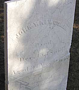 The gravestone of John Newcomb, the 'old Wellfleet oysterman'