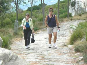 Hiking up the Madonna Maricana, the tallest point on Elba.