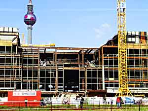 This scene shows the Palast der Republik in May 2006, shortly after the start of its demolition.