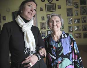 My good friend Goshib-Tupaarnaq Rosing Olson and her mother Alma, at home in Sisimiut