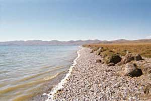 The shores of lake Son Kul