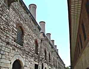 The kitchen chimneys at Topkapi Palace