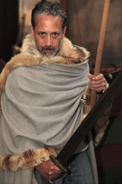 Viking costumes at the museum.