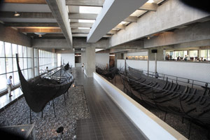 Inside the Viking Museum at Roskilde, Denmark. photo by Paul Shoul