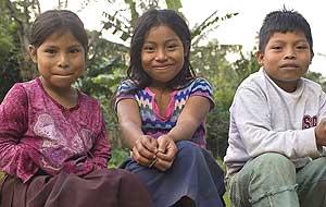 Children of coffee farmers