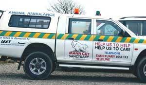 The Mann Cat Sanctuary ambulance